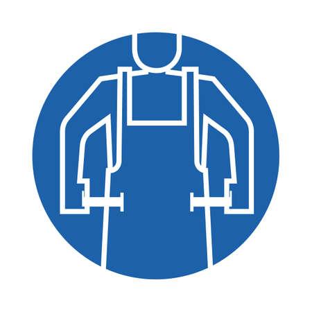 person wearing apron Illustration
