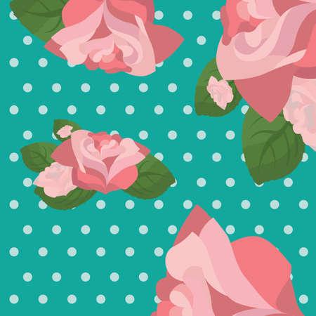 Rose pattern Ilustração