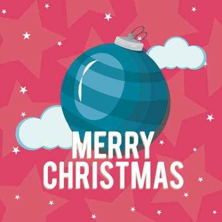 Merry christmas card Reklamní fotografie - 81485809