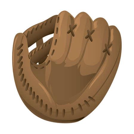 Une illustration de gants de baseball. Vecteurs