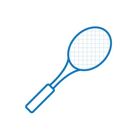 Une illustration de raquette de tennis. Banque d'images - 81536152