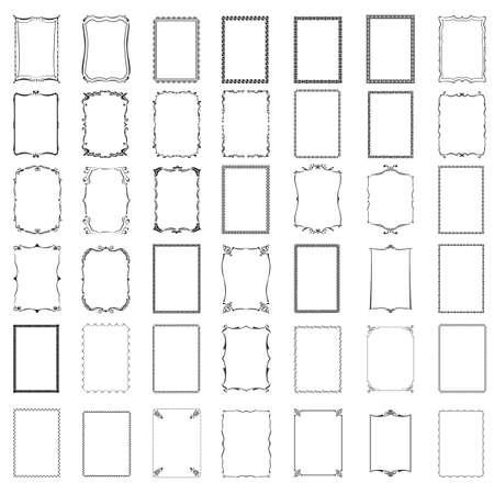 Verschillende frames Stockfoto - 106674737