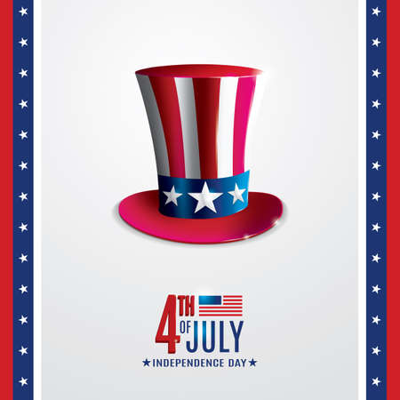 4th of july independence day poster Stock Vector - 106674742