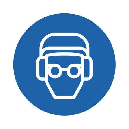 person wearing glasses Ilustração