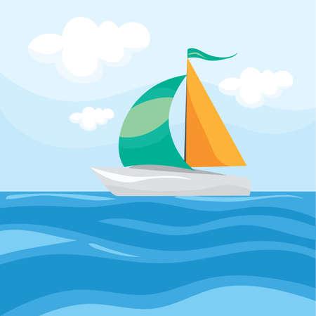 ボートと海