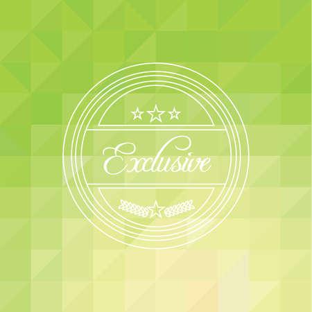 exclusive label Illusztráció