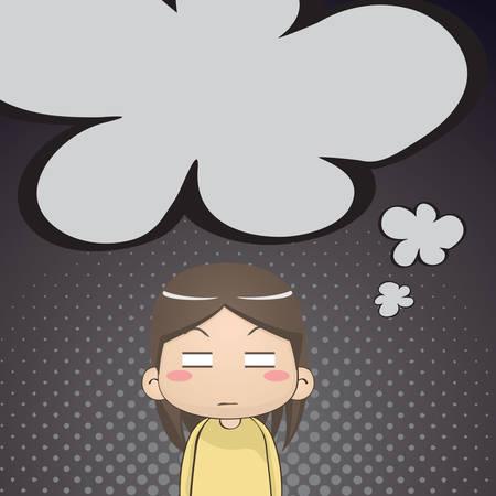annoyed girl thinking