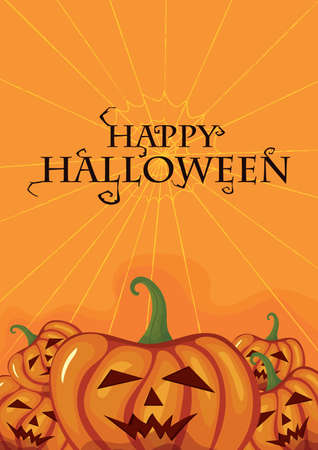 happy halloween card Illustration