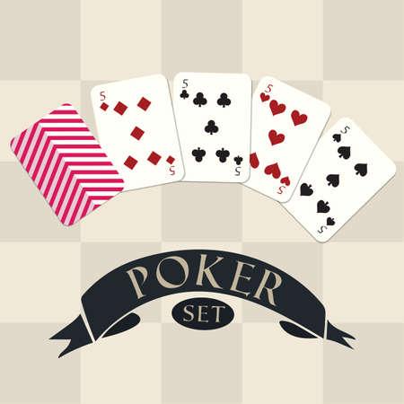 Set di poker Archivio Fotografico - 81485827