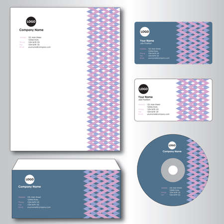 A business cards and compact disc illustration.