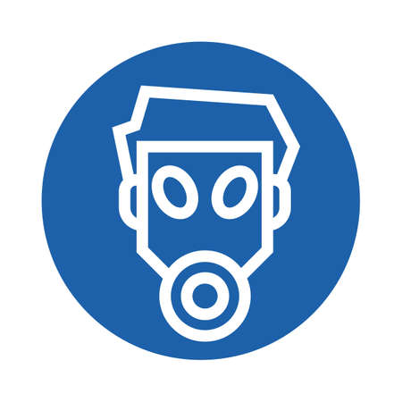 man wearing a gas mask Illustration