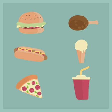 A fast food illustration.