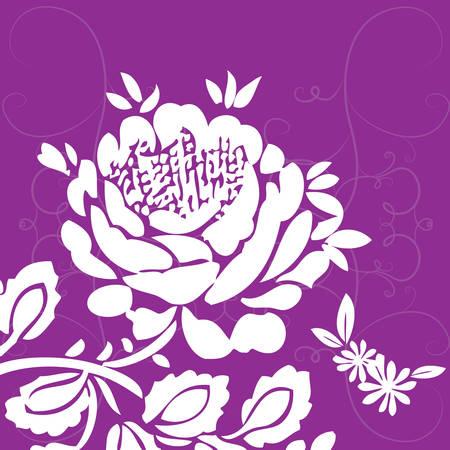 A floral background illustration.