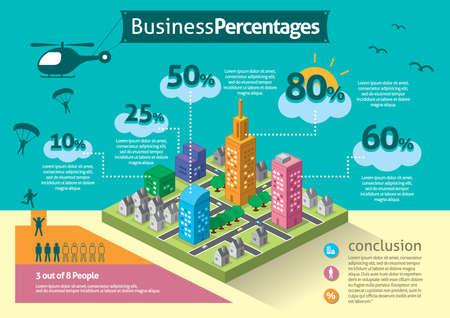 ビジネス率のインフォ グラフィック