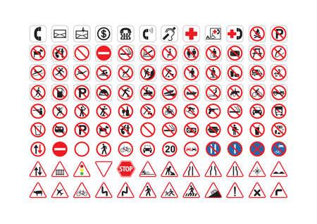 Varias colecciones de señalización.