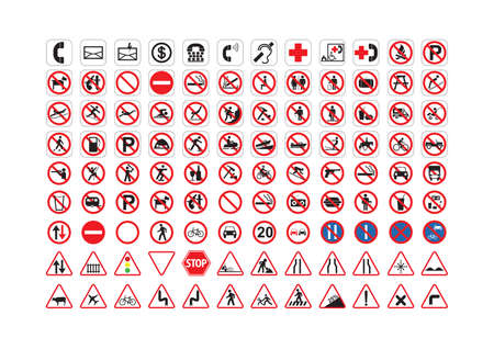 various collection of signage Stock Vector - 106674790