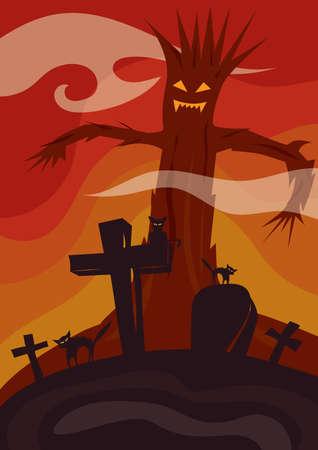 felice carta di halloween Vettoriali
