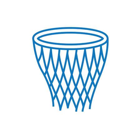 バスケット ボールのフープの図。
