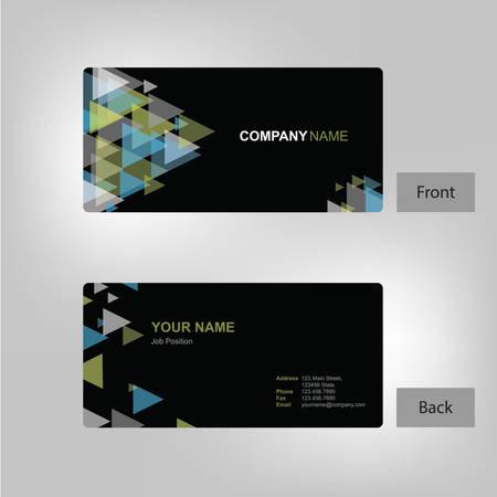 フロントとバックのビジネス カード テンプレート