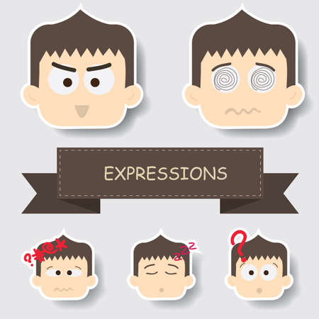 boy with different expression