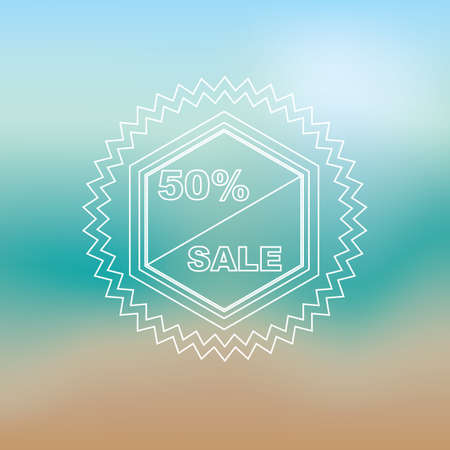fifty percent sale label