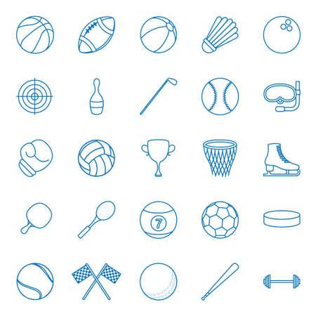 Set of sports icons illustration.