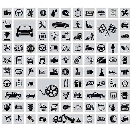 自動車のコレクションです。  イラスト・ベクター素材