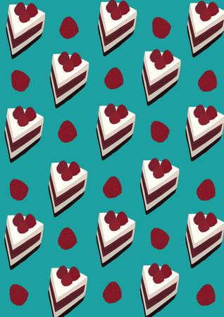 cake slices background Imagens - 81419640