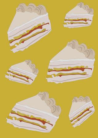 cake background design Ilustração