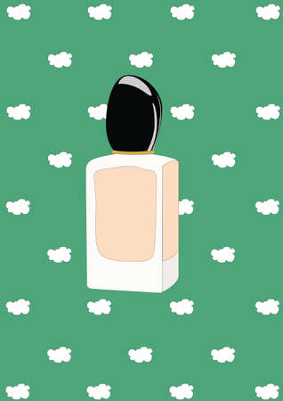 perfume bottle Illusztráció