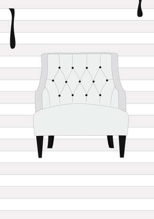 modern white chair Ilustrace