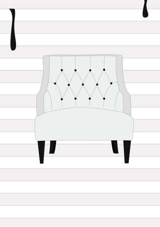 modern white chair Illustration
