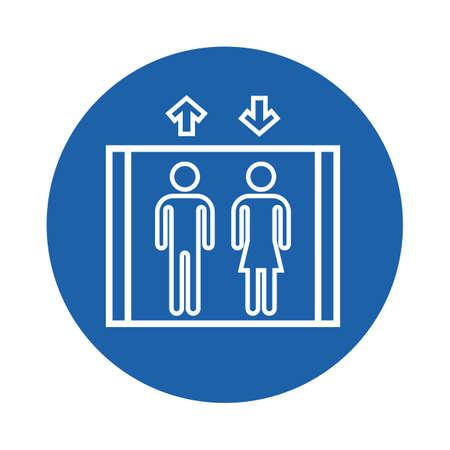 persone su un ascensore