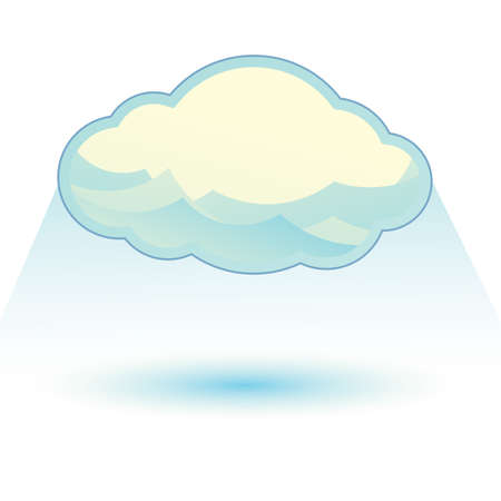 cloud with a ray Ilustracja