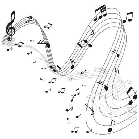 musical notes  イラスト・ベクター素材