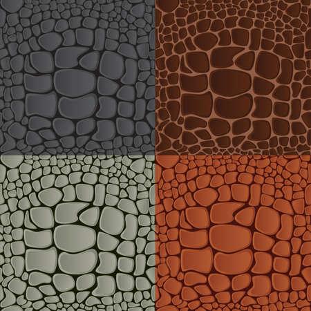 テクスチャ ワニ革のパターン