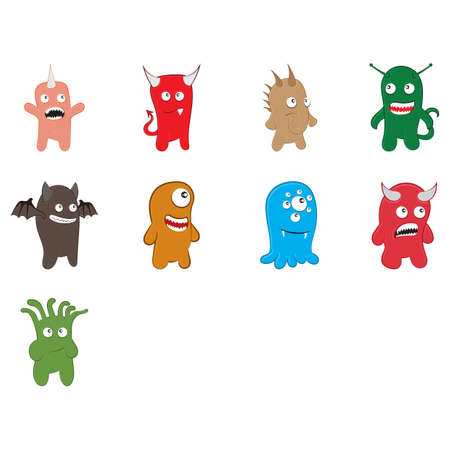 Cute funny monster collection.