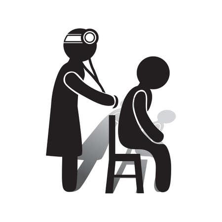 医者が患者を診断します。