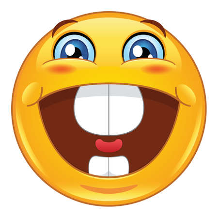 emoticon feliz y emocionado