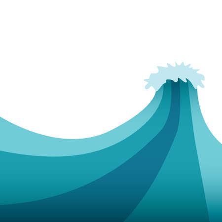 水の波  イラスト・ベクター素材