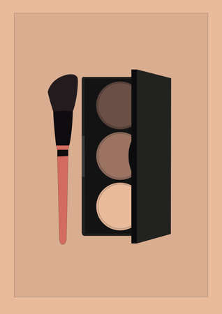 eye shadow and makeup brush 스톡 콘텐츠 - 106674878