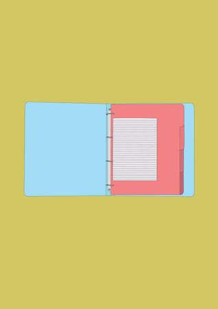 open file Illustration