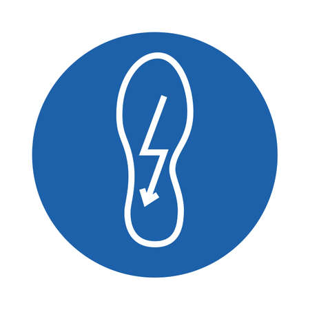 shoe with lightning symbol
