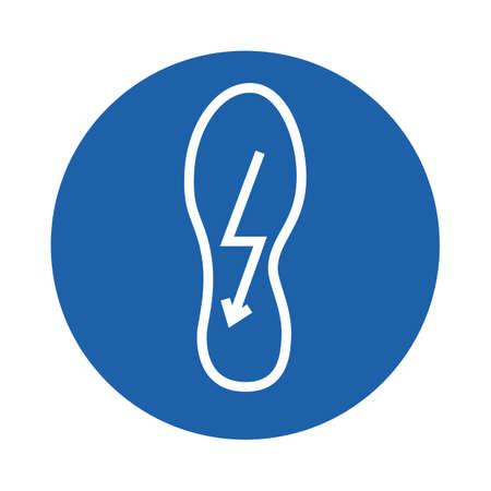 shoe with lightning symbol