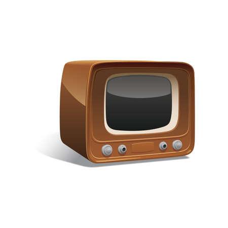 vintage television 向量圖像