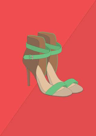 high heel shoes Banco de Imagens - 106674890