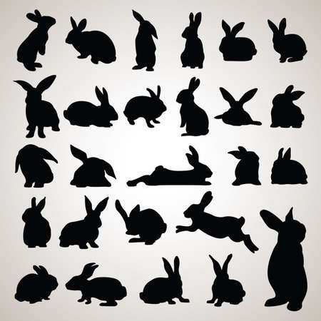 rabbit silhouettes 版權商用圖片 - 106674896