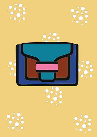 clutch bag Illustration