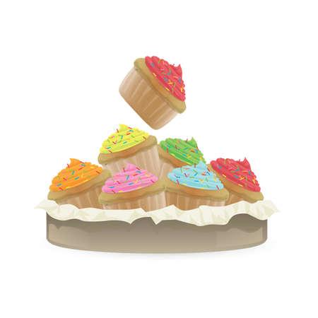 cupcakes 向量圖像