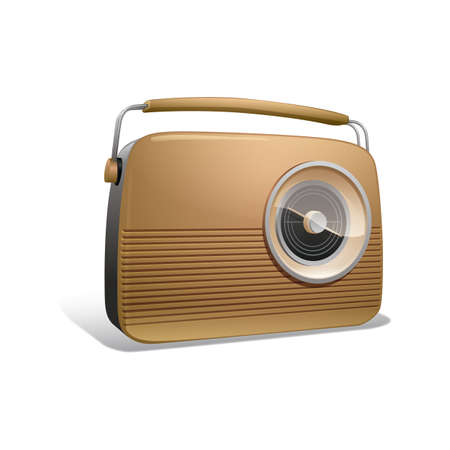 vintage radio Иллюстрация
